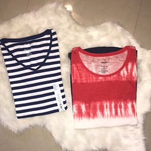 🆕$26 Lot of 2 Cotton Tees